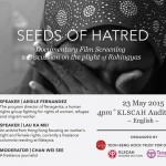 """""""Seed of Hatred"""" Documentary Film Screening & Discussion on the Plight of Rohingyas"""